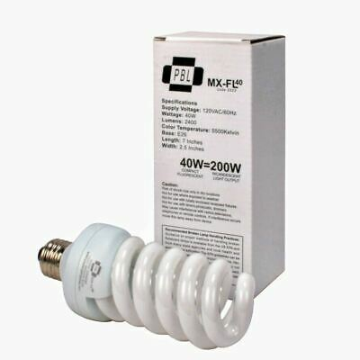 50 Watt Compact Fluorescent Full Spectrum Hi Output Photo Video Daylight Bulb