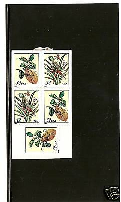 Cat no. 3128b Merian Bontanical Prints Stamps