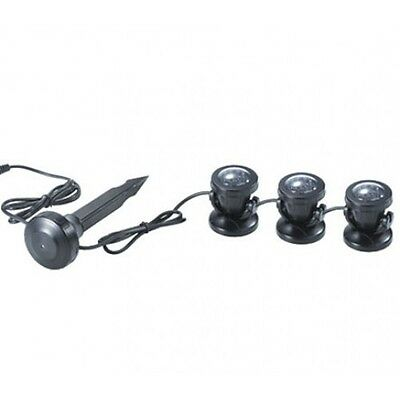 3 x 1.5w Underwater Waterproof LED Pond Garden Lights New SDL-03