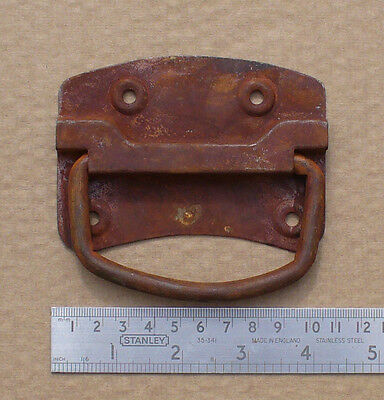 """LARGE RUSTIC Traditional Chest Locking / Lifting Handle Strong 100mm  4""""+ Screws"""