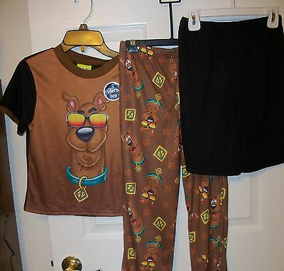 Scooby Doo Sun Long Short Flame Resistant 3 Piece Pajama PJ Boys Size 4 NWT