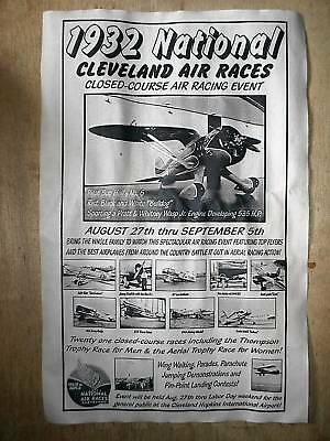 """(299L) Novelty Poster 1932 Cleveland, Ohio National Air Races Bulldog 11""""X17"""""""
