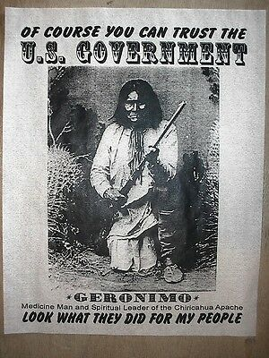 """(143L) NOVELTY POSTER AMERICAN INDIAN GERONIMO U.S. GOVERNMENT 11""""x14"""""""