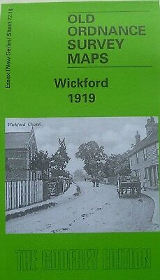 Old Ordnance Survey Detailed Maps Wickford  Essex 1919 Godfrey Edition New