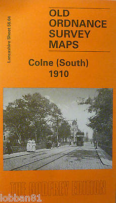 Old Ordnance Survey Maps Colne South near Burnley  Lancs 1910 S 56.04 New Map