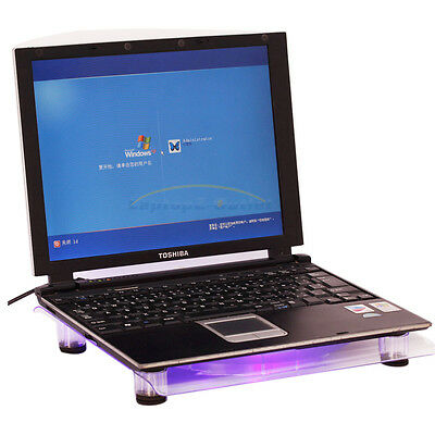 """USB 828 1 18cm Big-Fan with Blue LED Cooling Cooler Pad Stand for Laptop 15.4"""""""
