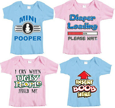 Cute funny infant baby shower gift funniest saying baby t-shirt tee shirt