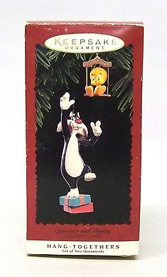 "1995 Hallmark Hang-together Ornament "" Looney Tunes Sylvester and Tweety """