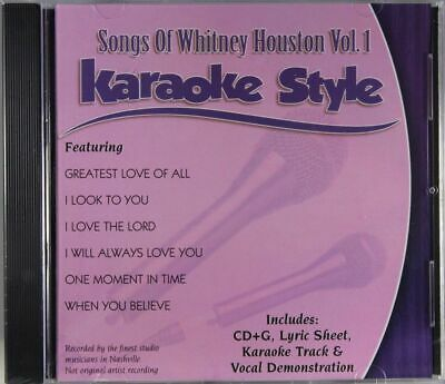 Songs of Whitney Houston Volume 1 Karaoke Style NEW CD+G Daywind 6 Songs