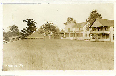 RPPC NY Mexico Point Cottages 1938 Oswego County