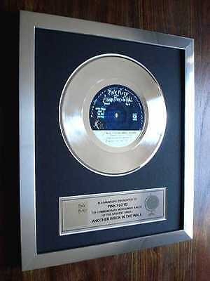 """Pink Floyd Another Brick In The Wall Platinum Disc 7"""" Single Record Disc Award"""