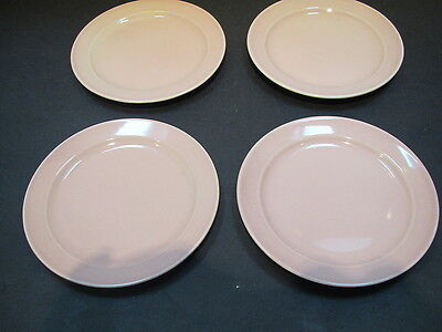 "Vintage LuRay pastel sharon pink 4-6 1/4"" bread & butter plates-Vnice"