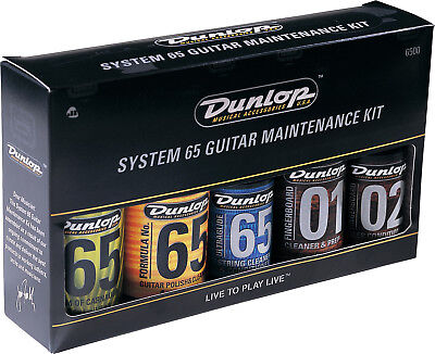 JIM DUNLOP Complete Guitar Maintenance Gift Pack *NEW* Inc. Cleaners, Cloths