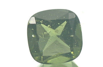 MOLDAVITE FACETED CUSHION GEM 9mm NORMAL CUT 2.38ct #BRUS315