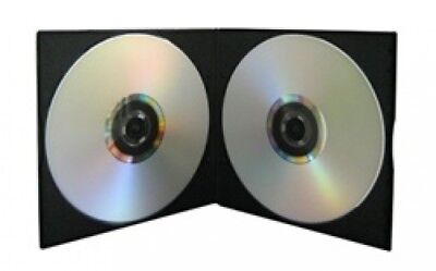 400 SLIM Black Double VCD PP Poly Cases 5MM