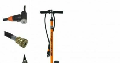 SKS Rennkompressor Fahrradpumpe Orange Multivalve/Messingkopf/E.v.a/Hebelstecker
