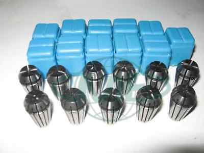 """ER16 COLLET SET--1/16"""" up to 3/8"""" by 16th --11 COMMON SIZES #ER16-SET11--NEW"""