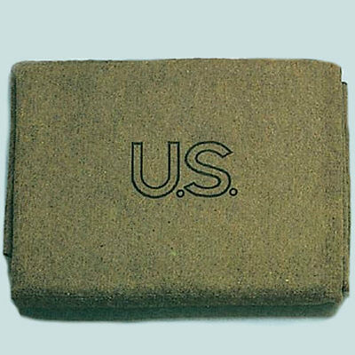 US Army Olive Drab US 70% Virgin Wool Blanket - FREE SHIPPING