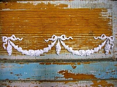 Shabby & Chic Rose Center & Swags *furniture Appliques4