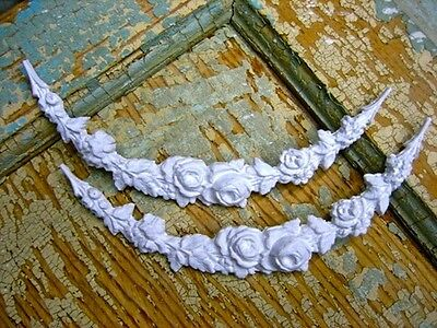 SHABBY n CHIC ROSE SWAGS (2 )  *FURNITURE APPLIQUES / FLEXIBLE
