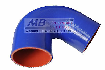 """SILICONE REDUCER COUPLER 2.5/"""" /> 2.125/"""" BLUE 5 PLY HOSE INTERCOOLER TURBO MBS"""