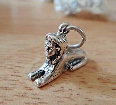 Sterling Silver 3D 18x13x5mm Solid Sphinx of Giza in Egypt Charm