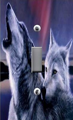 Light Switch Plate Switchplate & Outlet Covers~ HOWLING WOLF WOLVES