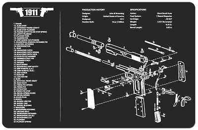 Sks rifle armorers gun cleaning bench mat wexploded view schematic m1911a1 armorers gun cleaning bench mat wexploded view schematic parts list publicscrutiny Choice Image