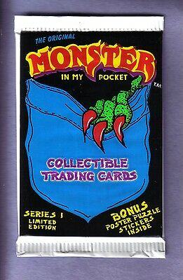 1991 MONSTER IN MY POCKET Collectible Trading Cards Pack Ser 1 frm Original Box!