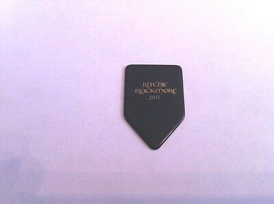 Ritchie Blackmore 2011 Black / Gold Guitar Pick Deep Purple