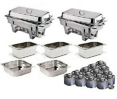Two Olympia Chafing Dishes With Extra Food Pans & Fuel *Free Next Day Delivery*