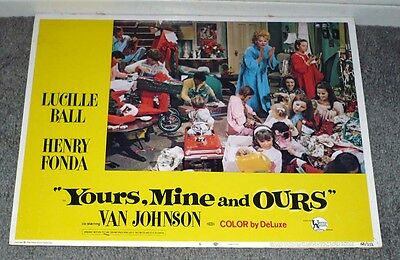 YOURS, MINE AND OURS 11x14 LUCILLE BALL/TIM MATHESON original 1968 lobby card