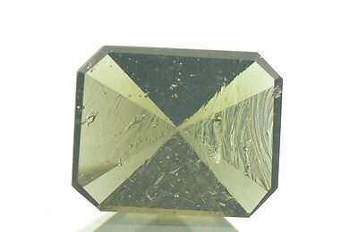 MOLDAVITE FACETED GEM 10X8mm RONLET CUT 1.8ct #BRUS349
