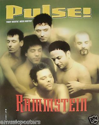 "RAMMSTEIN ""2001 PULSE MAGAZINE"" U.S. PROMO POSTER -Industrial Metal Music"