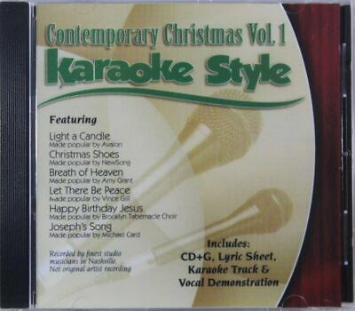Contemporary Christmas Volume 1 Christian Karaoke Style NEW CD+G Daywind 6 Songs