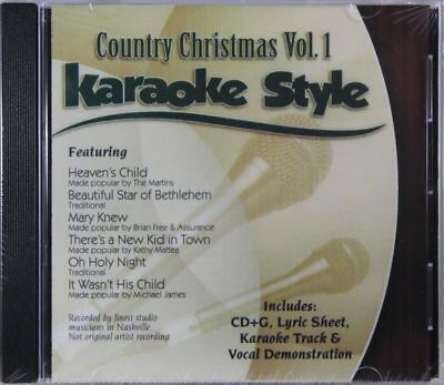 Country Christmas Volume 1 Christian Karaoke Style NEW CD+G Daywind 6 Songs