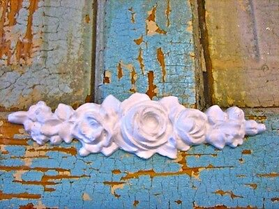Shabby & Chic Rose Center * Furniture Appliques / Onlays !