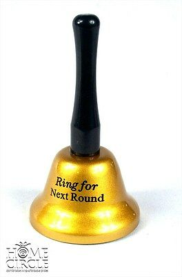 Beautiful Golden Color 'Ring For Next Round' Bell Great Gift For Friends 14Cm