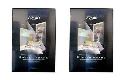 Value Pack Two 27x40 Movie Poster Frames Thin Profile Solid Backing Assembled