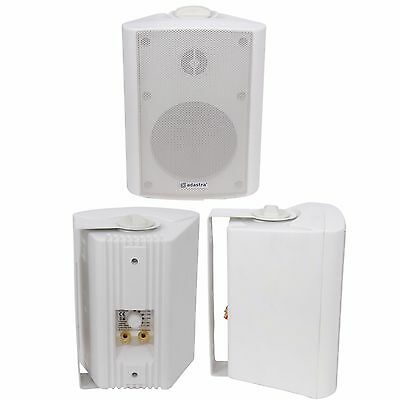 "QUALITY 3"" 60W White Background HiFi Speaker *100V & 8ohm* Wall Mount Bookshelf"