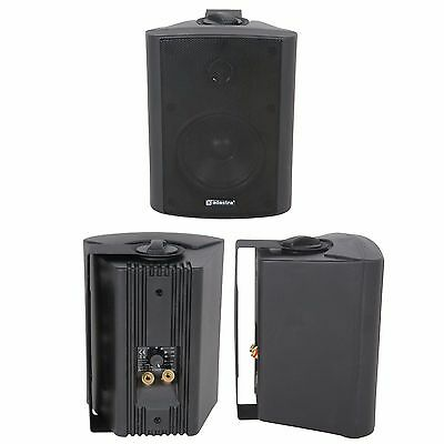 "QUALITY 3"" 60W Black Background HiFi Speaker *100V & 8ohm* Wall Mount Bookshelf"