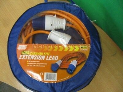 Maypole 10 Metre Caravan or Motorhome 230V 10Mtr Site Extension Lead. Hook Up.