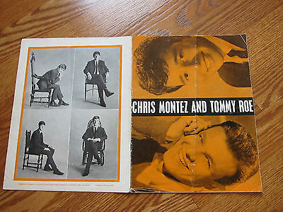 BEATLES Concert program UK March 1963 Chris Montez Tommy Roe headliners