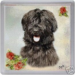 Briard Coaster - black - Design No 1 by Starprint - Auto combined postage