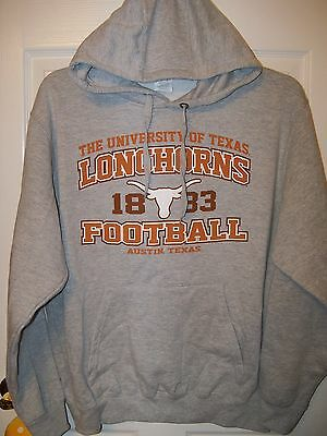 Majestic Texas Longhorns Orange White Hoodie Hooded Jacket Mens Size 2XL XXL NWT