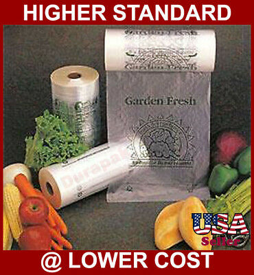 4 Roll 12X20 5 A HDPE Clear Produce Grocery Supermarket Bag - 16 lbs per case