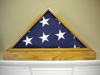 5 X 9 Light Oak With Base Flag Display Case American Military Burial Funeral Usa