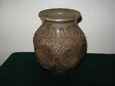 Handmade Pottery Vase marked Harrigan and recently found in NC