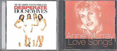 Desperate Housewives by Various Artists (CD) & Love Songs by Anne Murray (CD)