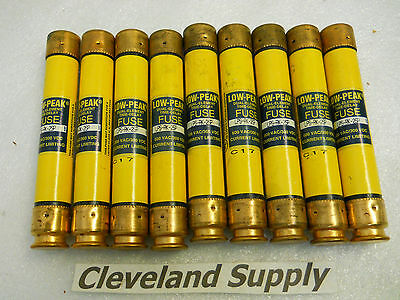 Bussmann Lps-Rk-2Sp Low Peak Fuses 2A 600V (Set Of 9) New Condition In Box
